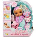 Кукла Baby Born Mermaid Surprise с фиолетовым полотенцем и 20 сюрпризами