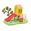 Игровой набор Peppa - ИГРОВАЯ ПЛОЩАДКА ПЕППЫ (домик с горкой, фигурка Пеппы), 06149-2
