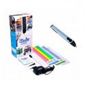 3D-ручка 3Doodler  Create для проф. исп. - ГОЛУБОЙ МЕТАЛЛИК (50 стержней из ABS-пластика, аксесс.),