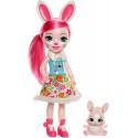 Большая кукла Enchantimals Huggable Cuties Bree Bunny Doll Кролик Бри и Твист FRH52