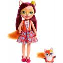 Большая кукла Enchantimals Лисичка Фелисити и Флик Felicity Fox FRH53